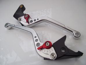 Aprilia CAPONORD (02-07), CNC levers long silver/red adjusters, F16/DC80